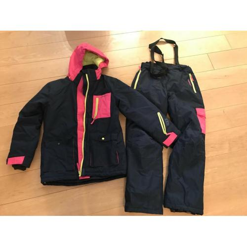 Set Skijacke mit Skihose True North Blau Pink Gelb   146 / 152