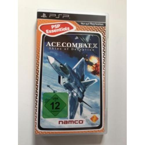 PSP Acecombatx skies of deception Spiel game ULES 00423VE
